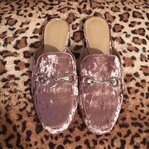 Blush Pink Mule Slides